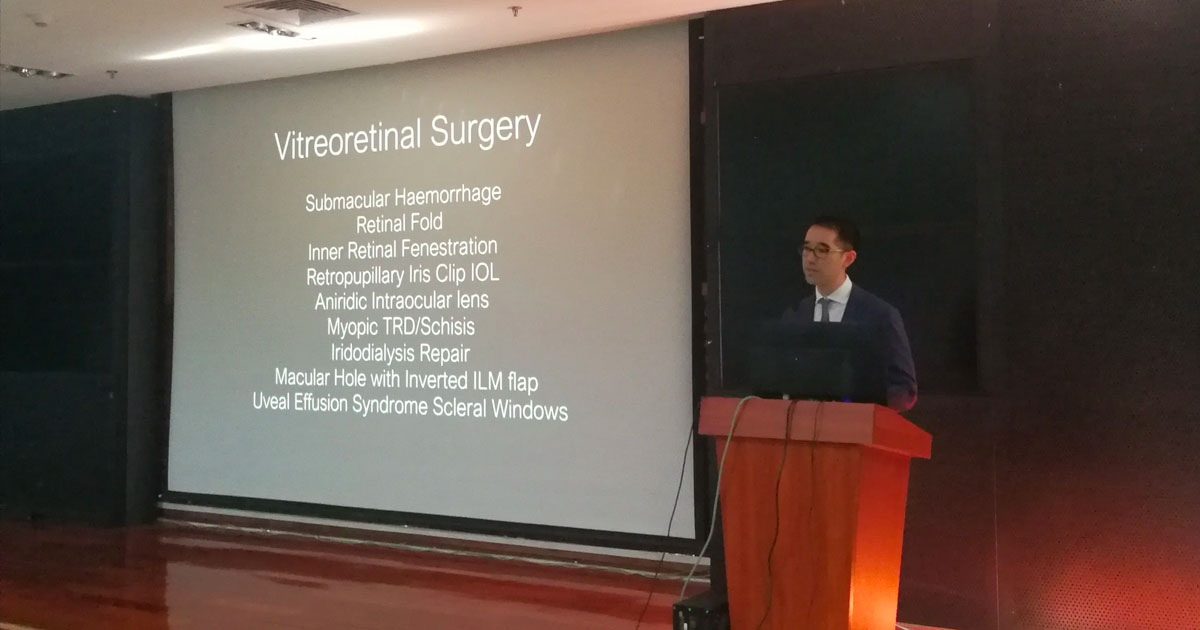 Associate Professor Fung had the pleasure of being invited to speak at Zhongshan Ophthalmic Centre (ZOC) on December 27 2017.