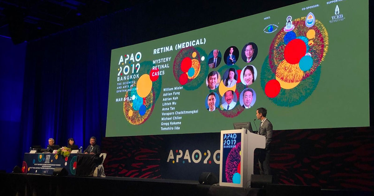 Assoc Prof Fung presented 3 posters, 2 rapid fire papers and 2 symposia at this year's Asia Pacific Academy of Ophthalmology conference.